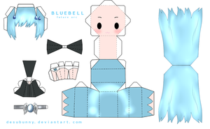 Reborn Bluebell Papercraft by tsunyandere