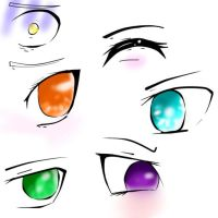 Eye Pratice 1 :3 by xxxRainbowkittyxx