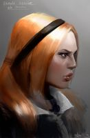 Female heroine portrait by Josic