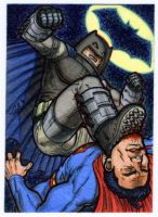 Batman vs. Superman -DKR- PSC by silentsketcher