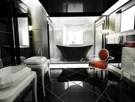 Modern Art Deco bathroom by Amedeah