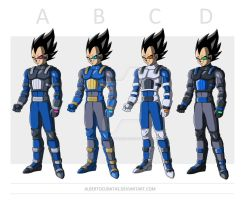 Vegeta new armor by albertocubatas