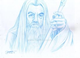 Gandalf The White sketch by Reenave