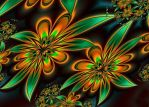 autumn flowers - ultra fractal by SvitakovaEva