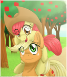 Apple Sisters by InuHoshi-to-DarkPen