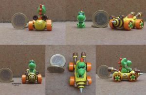 yoshi kart of paper by sombra33