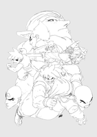 HIRESlines - DBZ by theCHAMBA