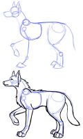 Sketch style - Canine by Susano-Reborn