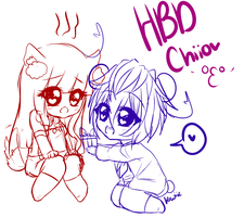 HBD Chiio! by Kiwii-tan