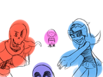 -Undertale- everything is better with friends by ultimatewino