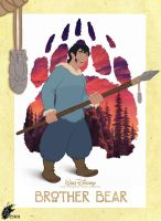 Brother Bear - Denahi Poster by davidkawena