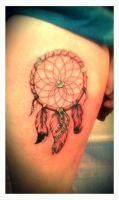 Dream catcher Tattoo by Malitia-tattoo89