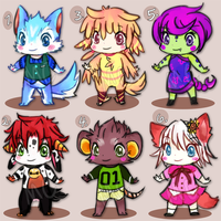 Chibi Adoptables [OPEN!] $5USD by melonycreations
