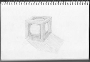 Cube frame with sphere by googleaseerch