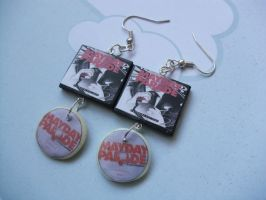 Mayday Parade Anywhere but here album earrings by InsaneJellyBean95