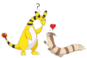 Amphy X Furret by MetalShadowOverlord
