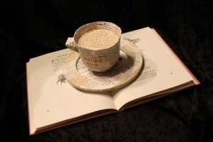 Coffe Cup Book Sculpture by wetcanvas