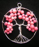Cherry Blossom Tree of Life *SOLD* by RachaelsWireGarden