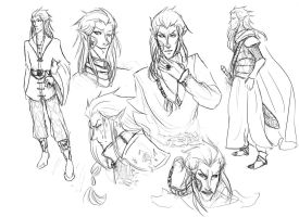 Nerevar sketches by ankalime