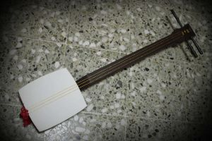 Pop n Music Prop- Shamisen by ValeforHo
