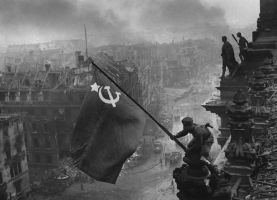 flag over the reichstag by Party9999999