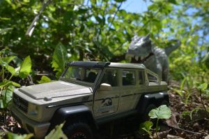 Indominus rex vs Mercedes-Benz G 63 AMG 6x6 (#3) by CrazyAsylumClown
