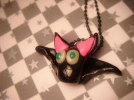 crazy bat pendant by leggsXisXawsome