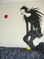 Ryuk on the wall by hitohai