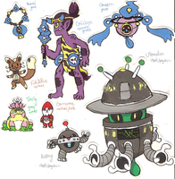 Fakemon set (6-2) by Coonae