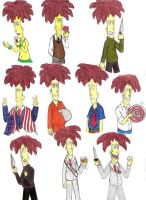 The many faces of Sideshow Bob by Violeta960