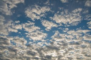 Blue Sky with Lots of Clouds by happeningstock