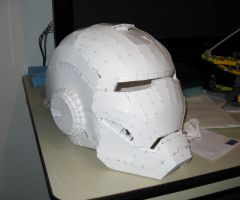 Iron Man Papercraft Helmet by VitaminZinc