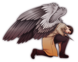 Castiel by NessaSan