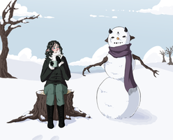 AoH SS: Daemyn and the Snowman by AxisRaid