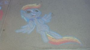 Chalk Rainbow Dash! by MintShard