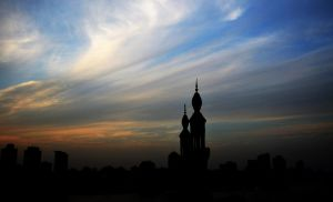 minaret among the clouds by Sa7ar555