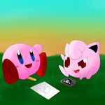 Kirby And Jiggs by baron-von-jiggly