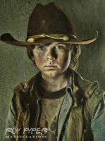 The Walking Dead: Carl: Oil Paint (Vers. 2) by nerdboy69
