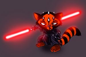 Darth Maul Raccoon by devilhs