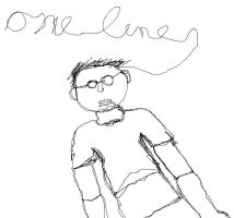 One-line self portrait by ANewChallenger