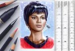 Uhura sketchcard by whu-wei