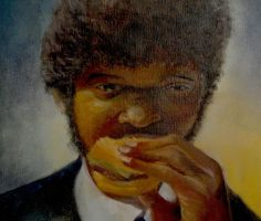 Old Sam L Jackson Painting by freewilly666