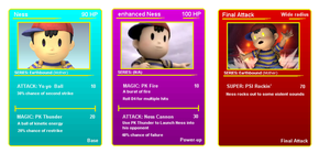 Ness battle cards by Frobie-Mangaka