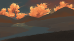 mountain sunset by SimplyMisty
