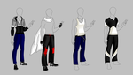 Nero outfits by DragonWarrior25