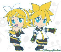 Kagamine Twins by SharinganSasuke02