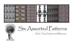Six Assorted Patterns vol two by Textures-and-More