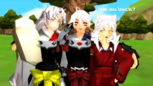 MMD Inuyasha :We go Back?: by MsYelenaJonas