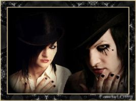 Same Pic of Jinxx Framed. by Gothic-Rebel