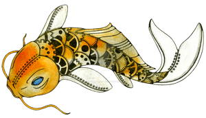 Steampunk Koi (Clockwork Fantasia) by NoraBlansett